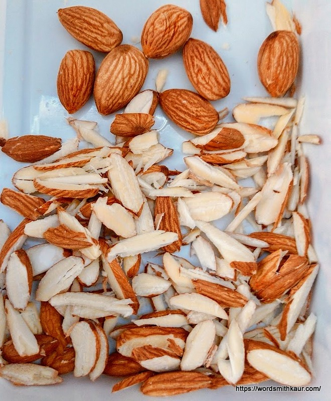 Almonds chopped