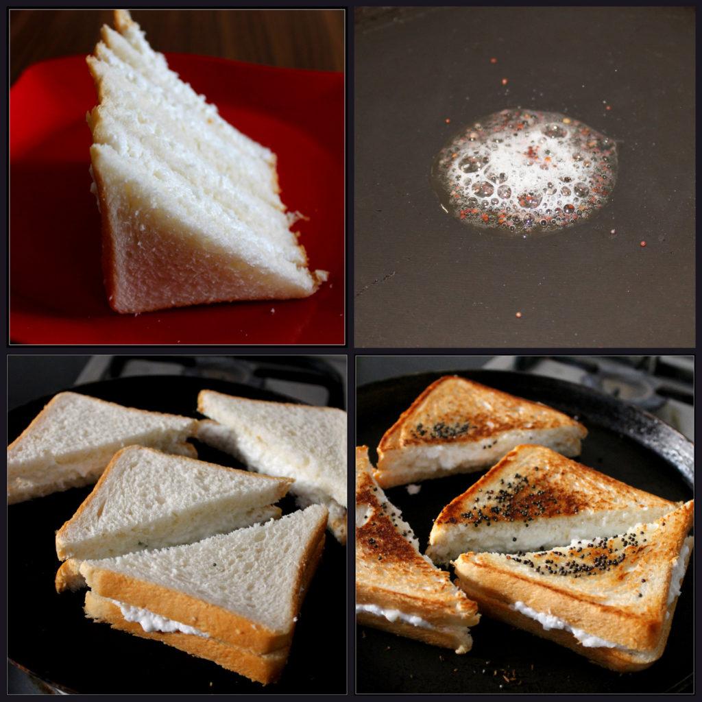 Grilling the Creamy Coconut Sandwiches
