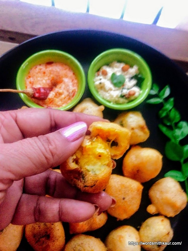 holi snack  recipe | crispy aloo bonda with dosa batter