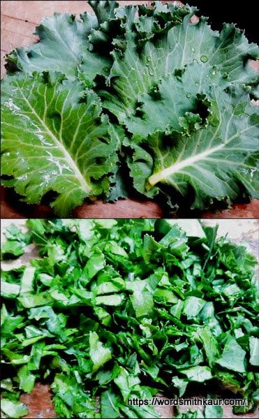 chiffonade kale