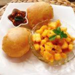 juicy mango puri | deep-fried mango bread
