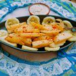 grilled garlic potato wedges