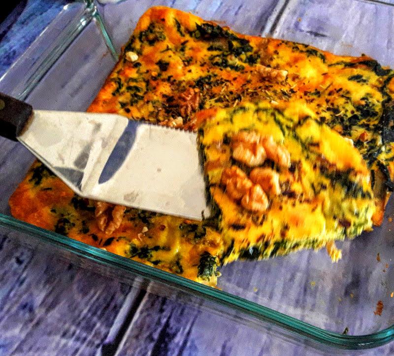 healthy homemade kale frittata