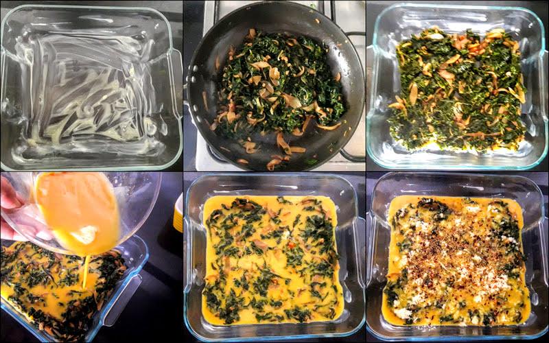 bake healthy homemade kale frittata