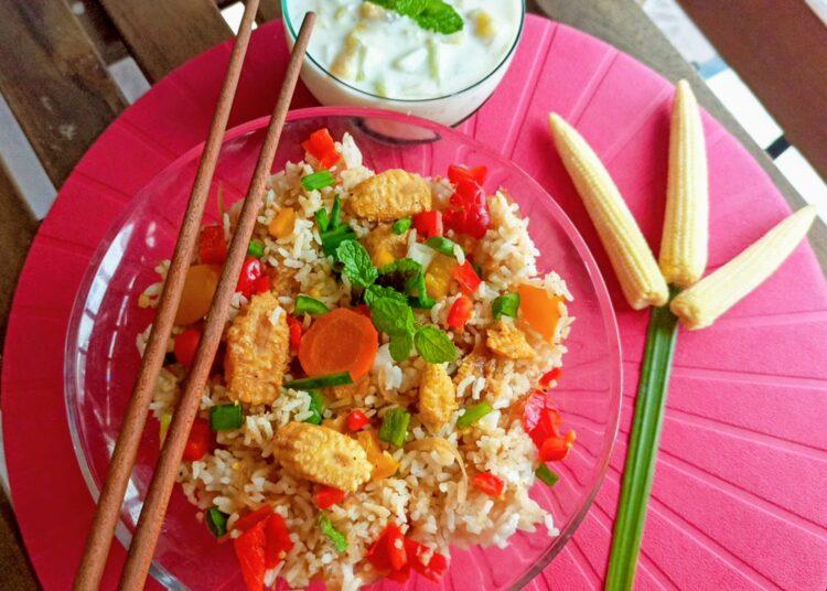 Baby corn fried rice recipe