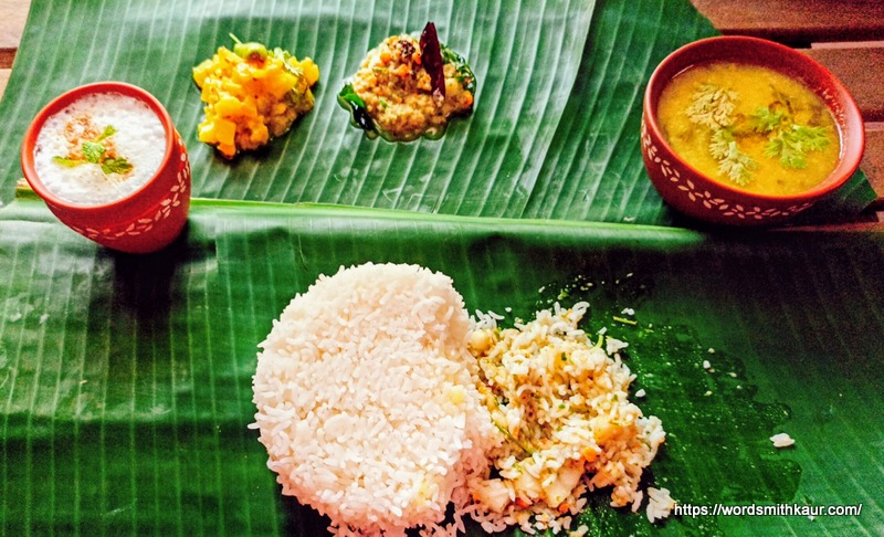 Andhra Dosakaya Pachadi with Rice