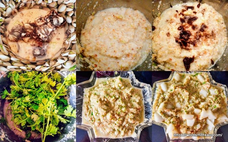 Andhra Dosakaya Pachadi Recipe Blended