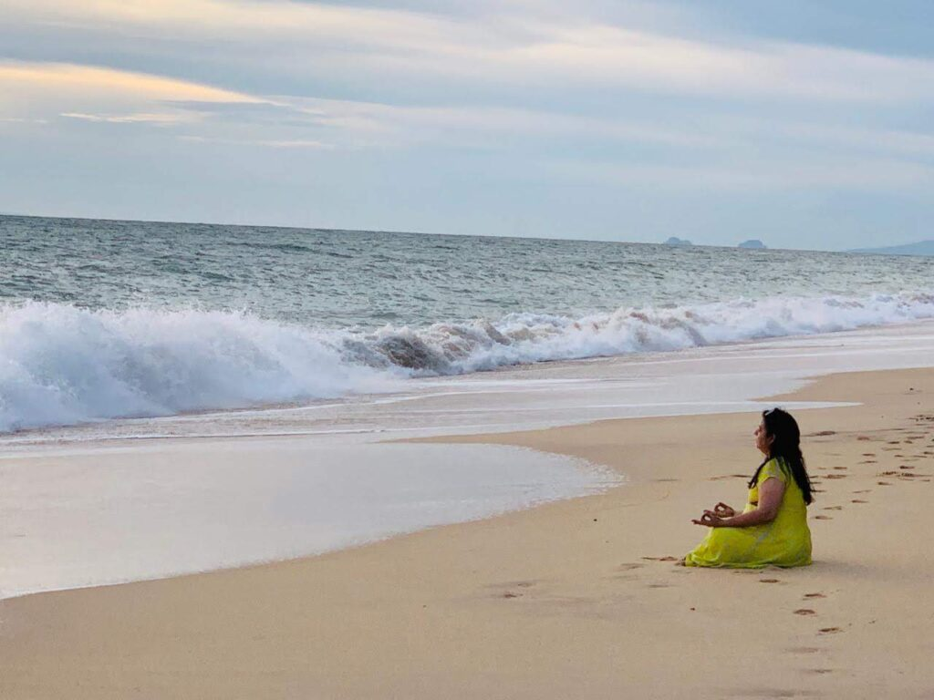 Meditation at Koh Lanta Beach Thailand