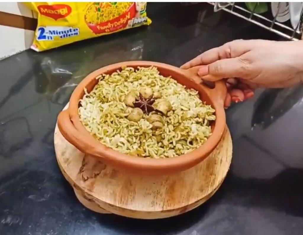 Maggi Mushroom Dum Biryani Ready