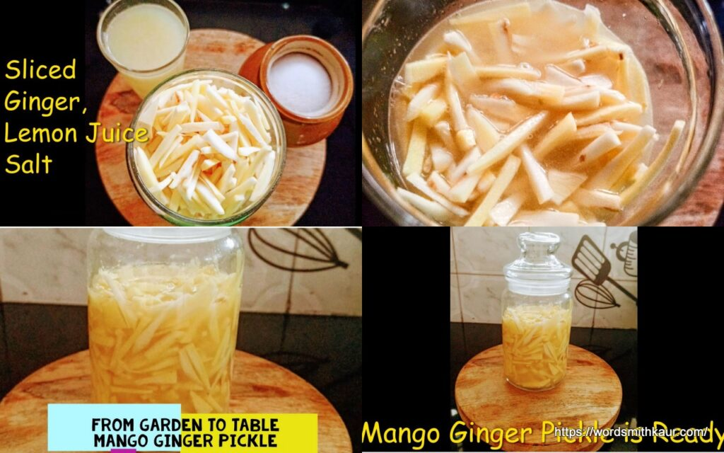 From Garden to Table | Mango Ginger Preserve