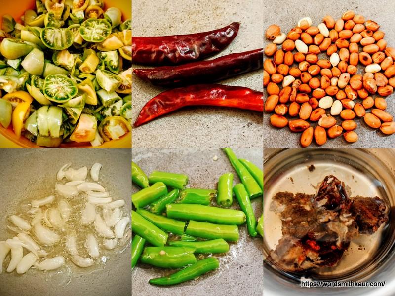Prep for Prep for Green tomato Chutney