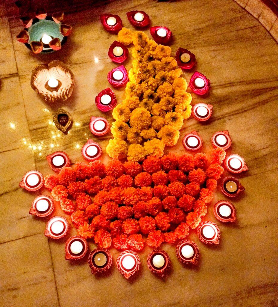 Marigold Rangoli