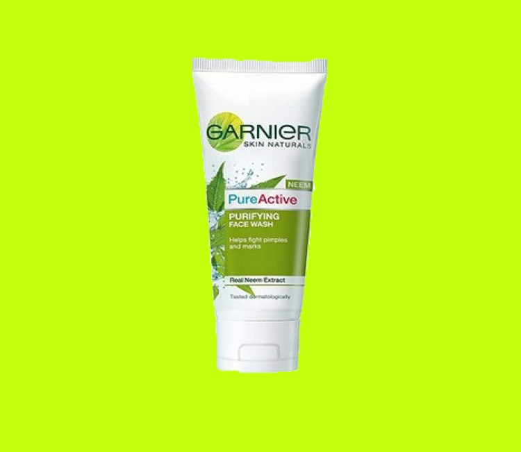 5 Best Face Washes for Oily Skin in India 2021-Garnier Skin Naturals Active Neem Face wash