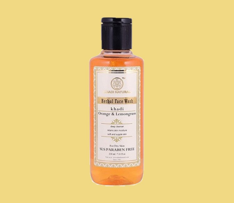 5 Best Face Washes for Oily Skin in India 2021- Khadi Naturala Herbal face wash